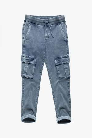 Drawstring Denim Jeggings