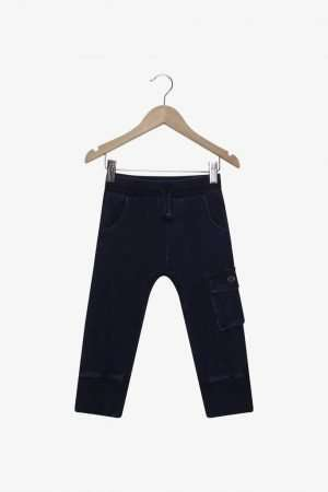Drawstring Cotton Denim Pants
