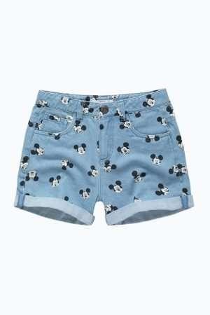 Allover Mickey Denim Shorts