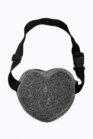 Shinny Heart Clip Bag