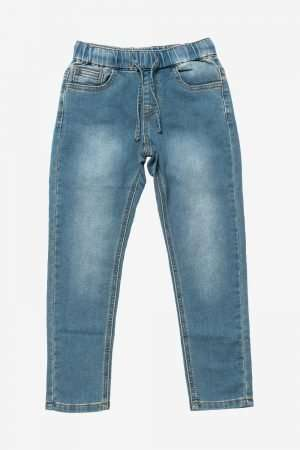 Drawstring Cotton Denim Pants