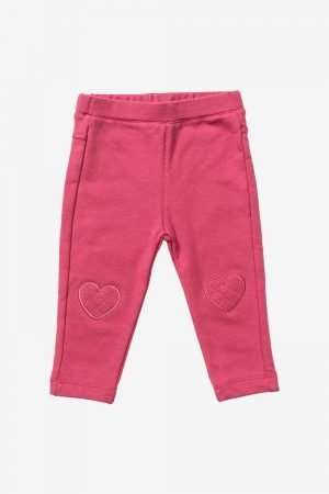 Jersey Leggings with Heart-Knee Patches