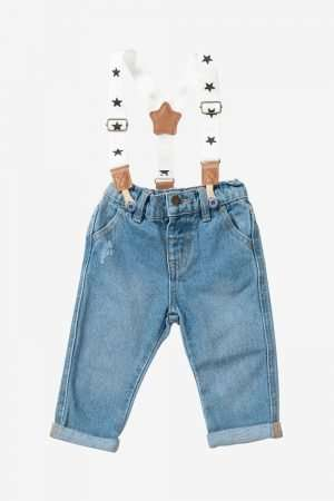 Jeans with Braces