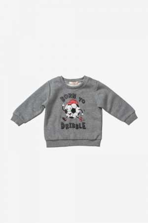 Basic Print Fleece Sweatshirt