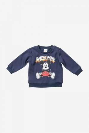 Mickey Mouse Print Fleece Sweatshirt