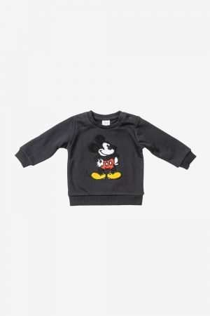 Mickey Mouse Embroidered Fleece Sweatshirt