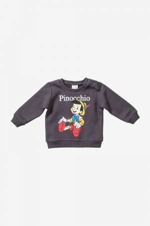 Pinocchio Print Fleece Sweatshirt