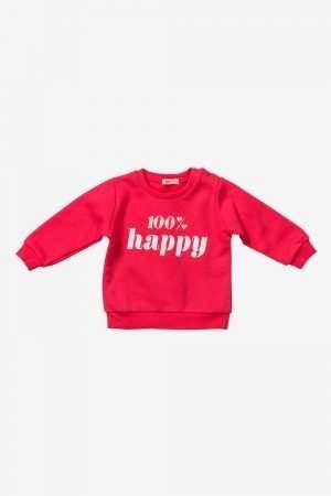 Basic Print Fleece Sweatshirt