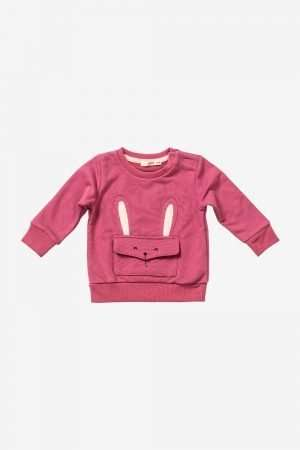 Sweatshirt with Animal Front Pocket