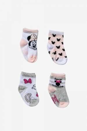 4-Pack Minnie Mouse Print Socks