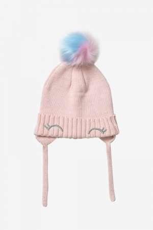 Basic Knit Hat with Pom Pom