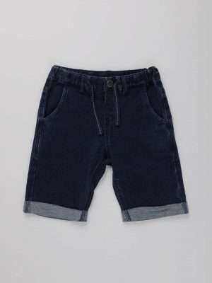 Casual Drawstring Denim Shorts