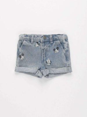 Minnie & Mickey Denim Shorts