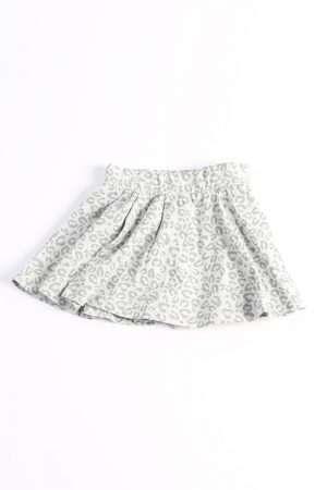 Leopard Print Jersey Skirt