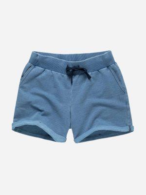 Drawstring Cotton Denim Shorts