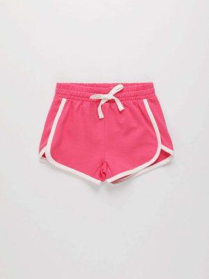 Drawstring Contrast Trim Shorts