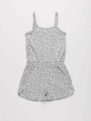 Leopard Print Jersey Playsuit
