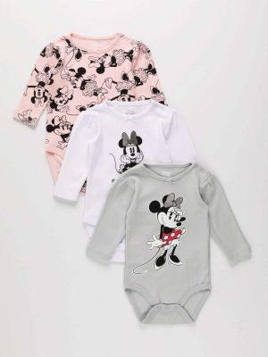 3-Piece Minnie Mouse Bodysuit Set