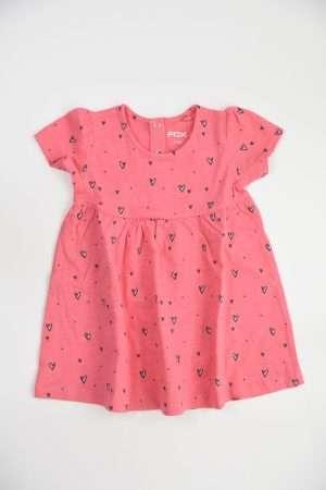 Allover Print Jersey Dress