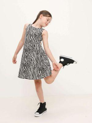 Animal  Print Jersey Dress