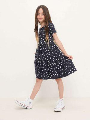 Tropical Print Jersey Dress