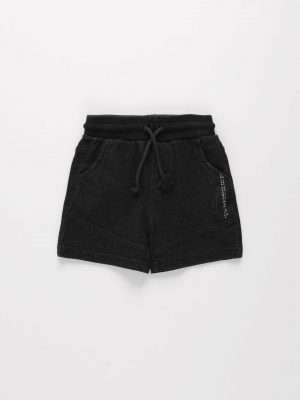 Drawstring Cotton Denim Shorts