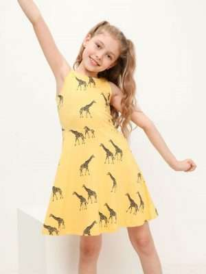 All Over Print Jersey Dress