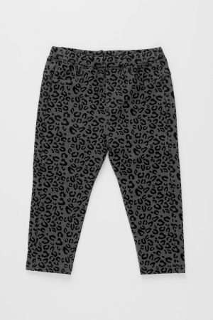 Allover Print Cotton Denim Leggings