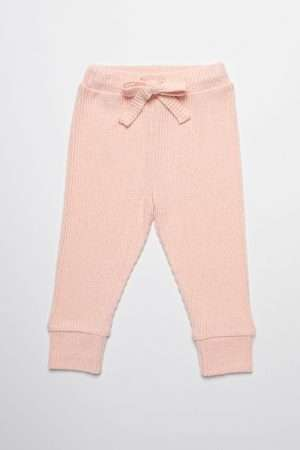 Soft Ribbed Casual Joggers