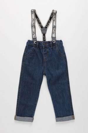 Denim Jeans with Braces