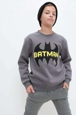 Batman Print Fleece Sweatshirt