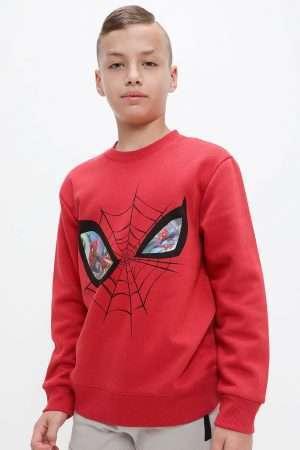 Lenticular Spiderman Fleece Sweatshirt