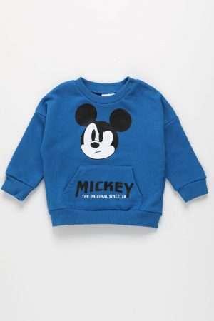 Mickey Mouse Print Sweatshirt