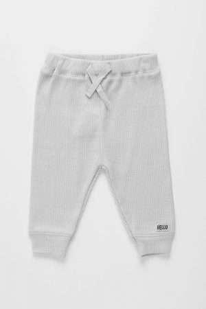 Ribbed Drawstring Pants