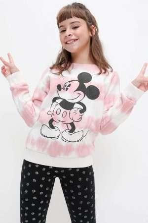 Mickey Tie-Dye Fleece Sweatshirt