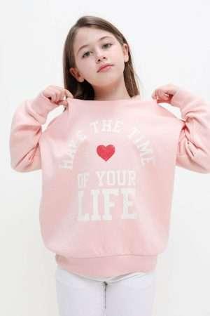 Printed Fleece Sweatshirt