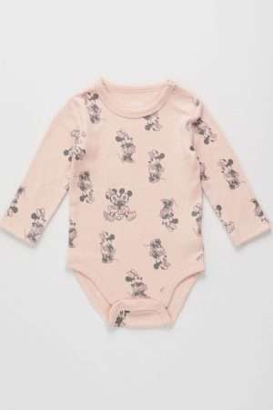 Mickey&Minnie long-sleeved Bodysuit