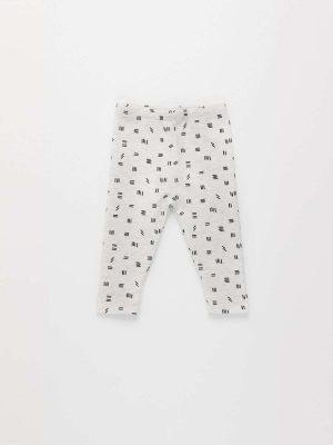 Basic Printed Fleece Leggings