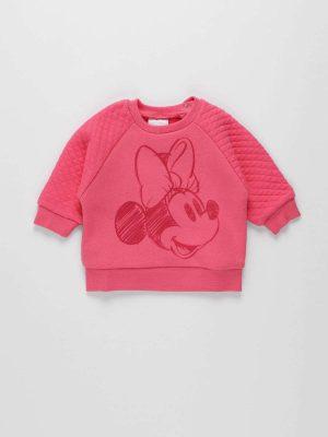 Minnie Mouse Print Fleece Sweatshirt